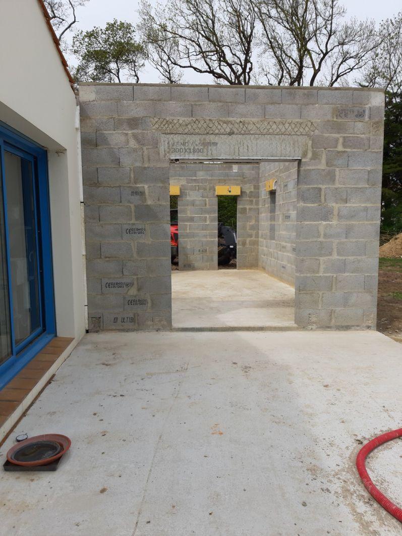 elevation des murs de l'exention