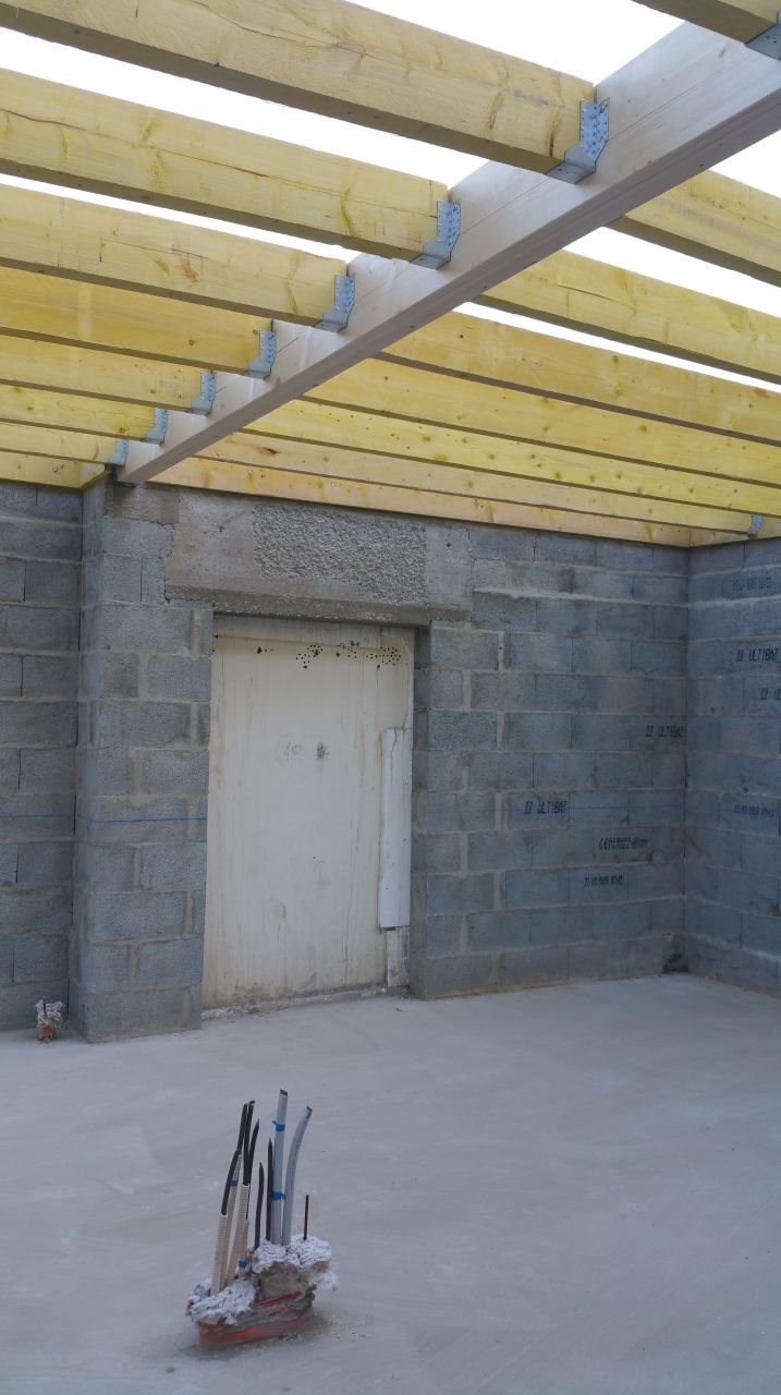 Charpente de l'extension (toit plat)