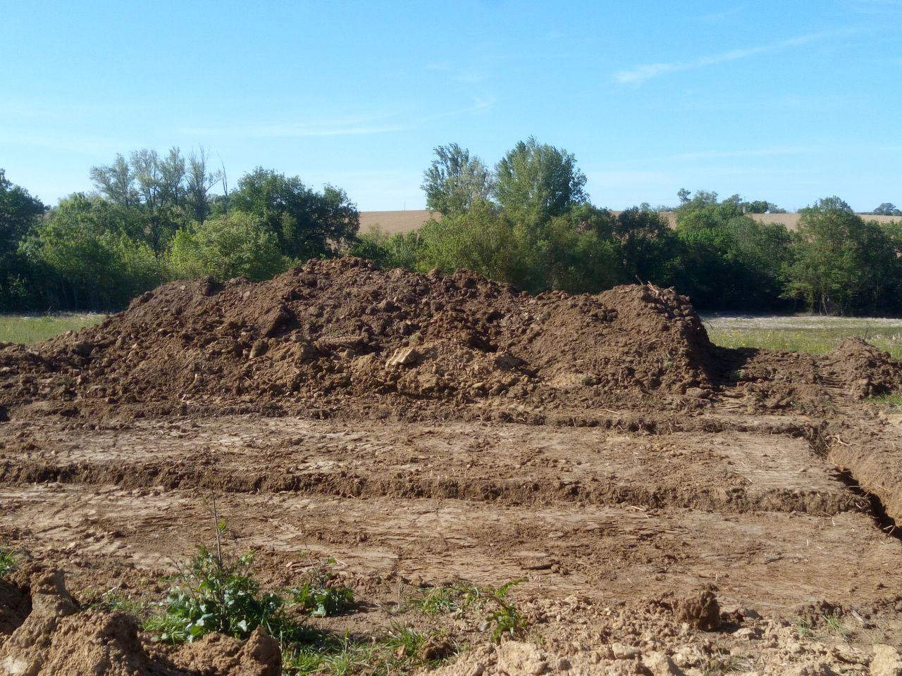 les fouilles de la maisons.