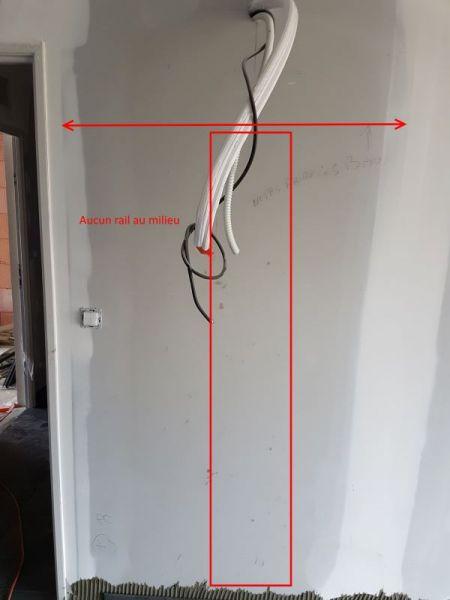 Aucun rail au milieu de la plaque de placo