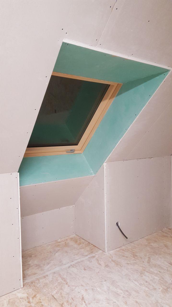 finition entourage de fenêtre en plaque hydro