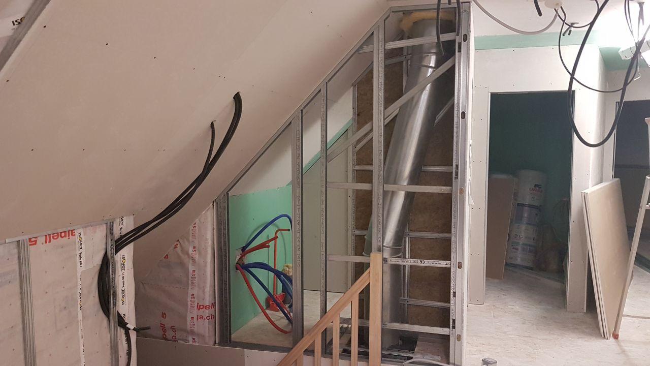 Ferraillage mur escalier