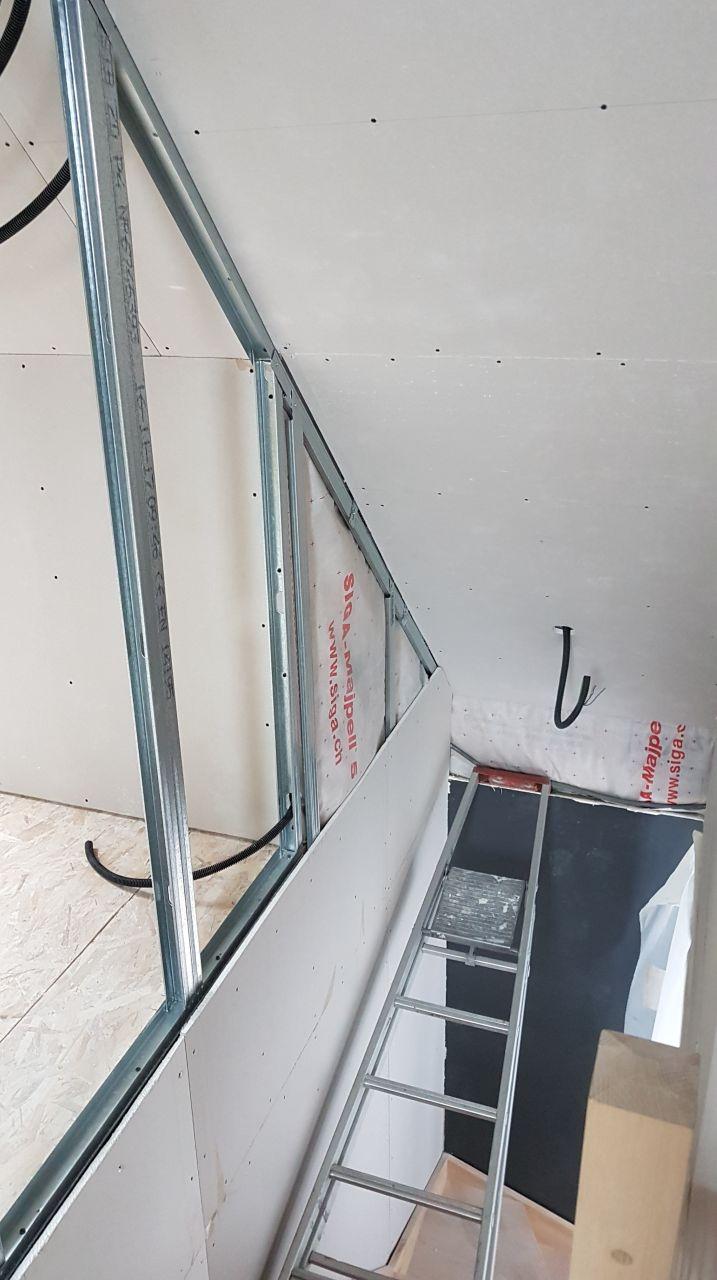 Vue + ferraillage de l'escalier