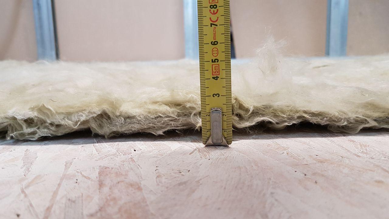 épaisseur de la laine de verre qui soit disant devrait faire 45mm