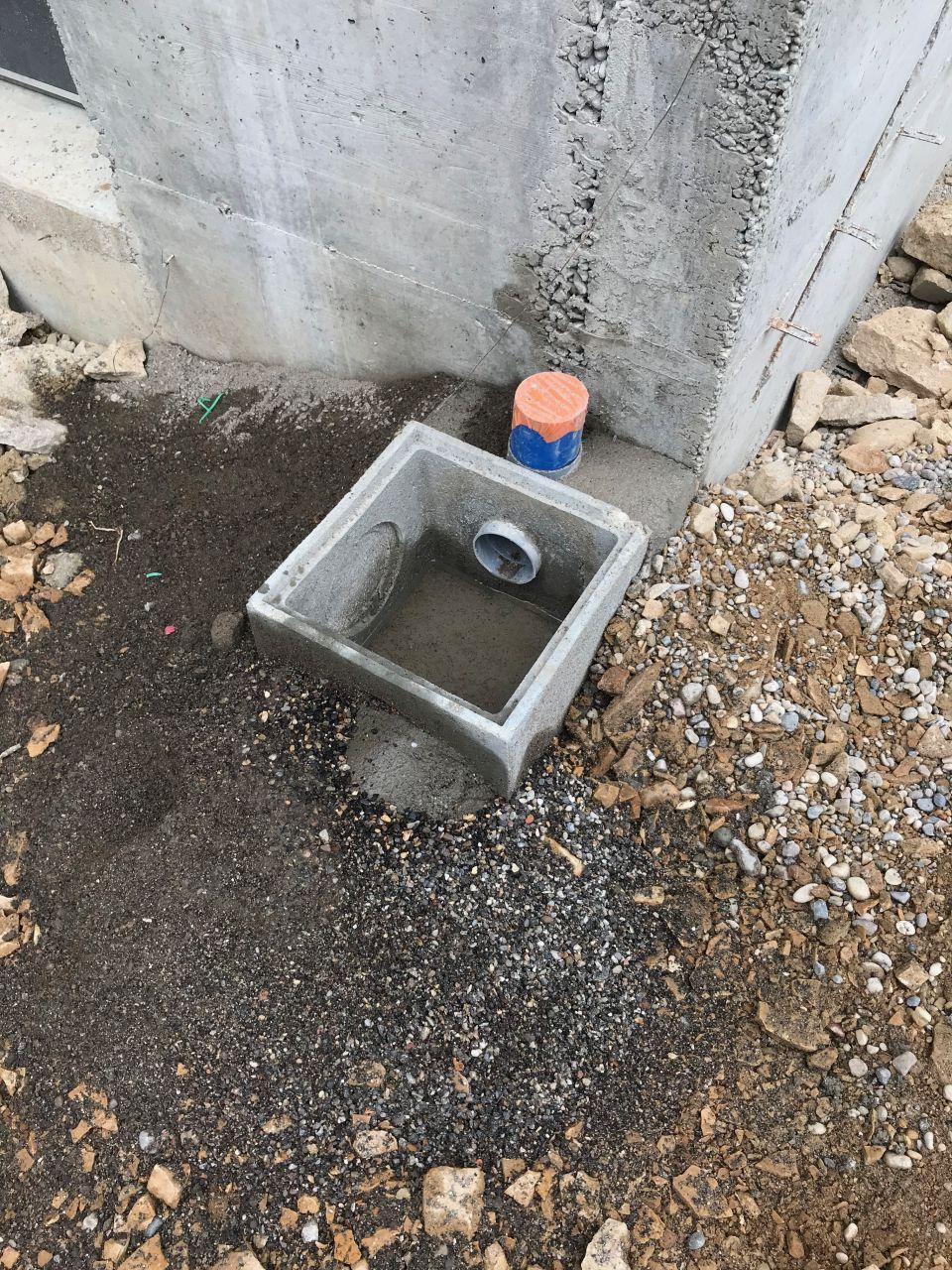 Raccordements eau, eaux usées et eaux pluviales