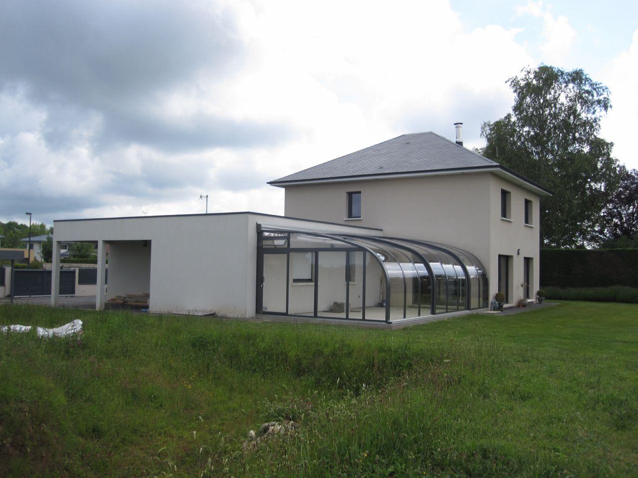 véranda Voroka ou abri de terrasse Voroeka saphir, gris anthracite