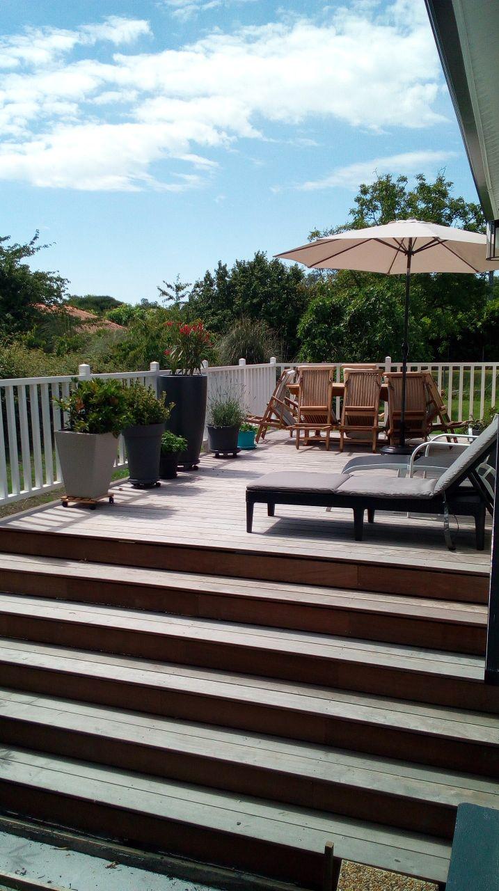 Aménagement terrasse terminé