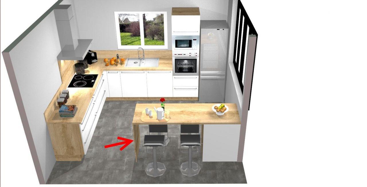 Plan De Travail Avec Jambage installation cuisine : conseil pour fixer le pied d'un