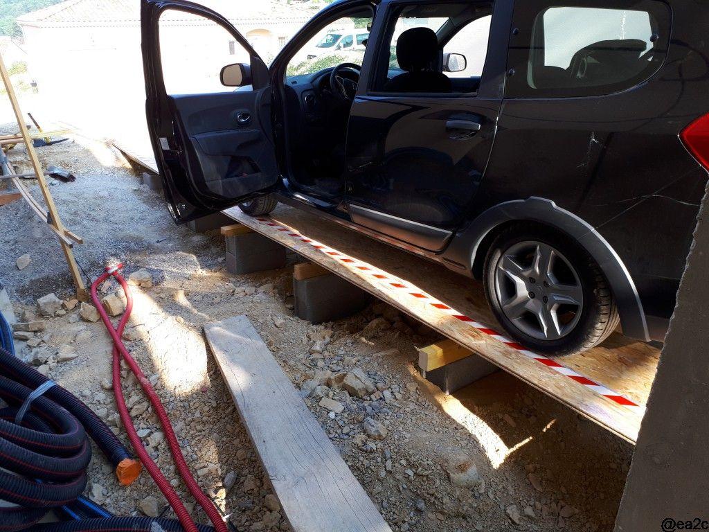 Rampe accès garage