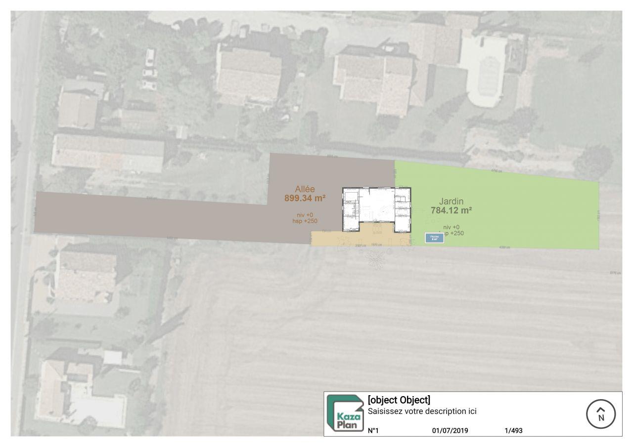 plan avec implantation terrain
