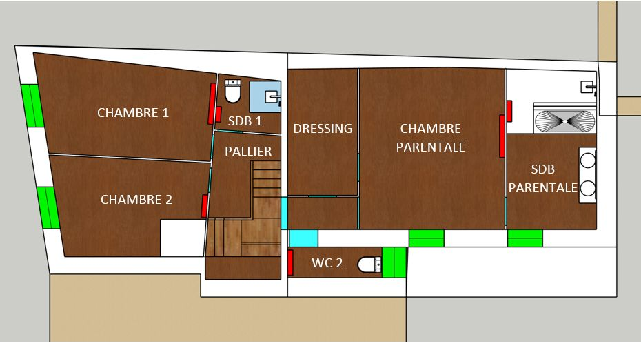 Plan du 1er étage : projet