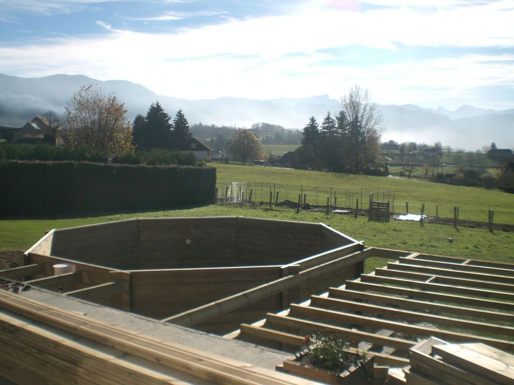 Structure pour terrasse en bois 11 messages for Amenagement terrasse en hauteur