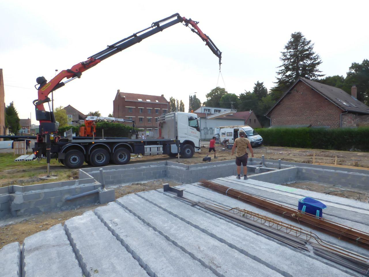 Livraison et installation du  plancher veodal