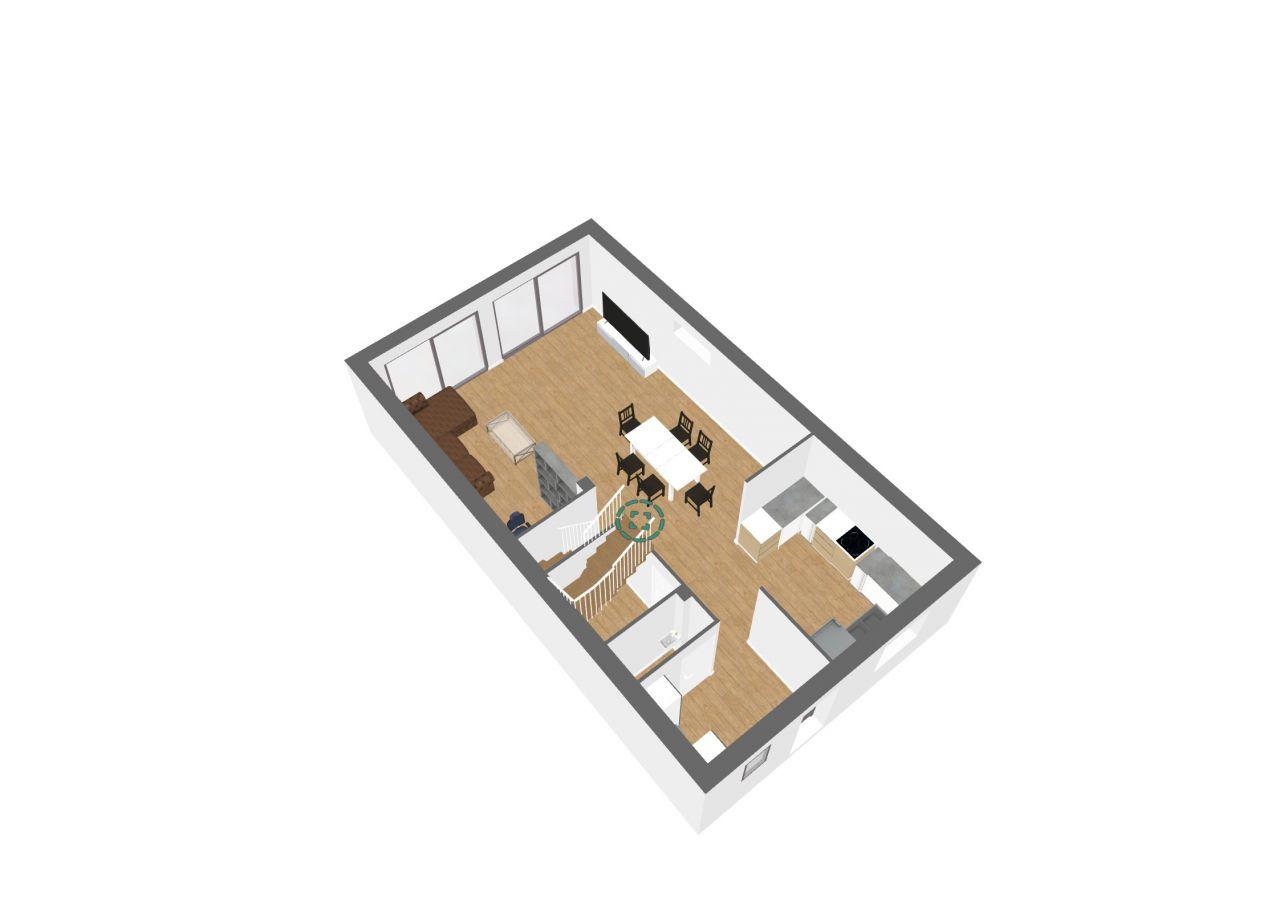 Vue 3D du salon