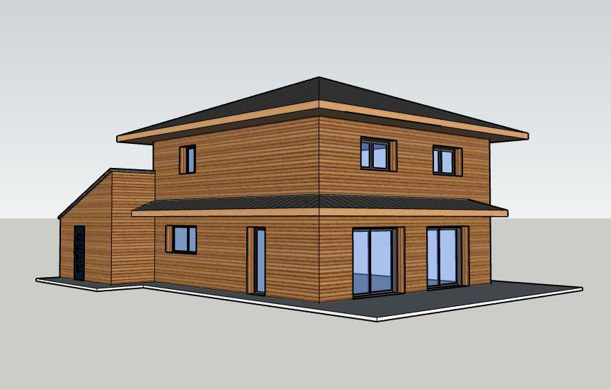 MOB bioclimatique passive compacte débord de toit