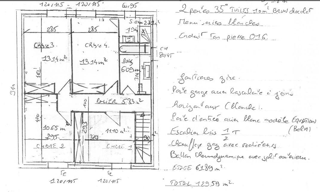 Plan 1 er etage esquisse