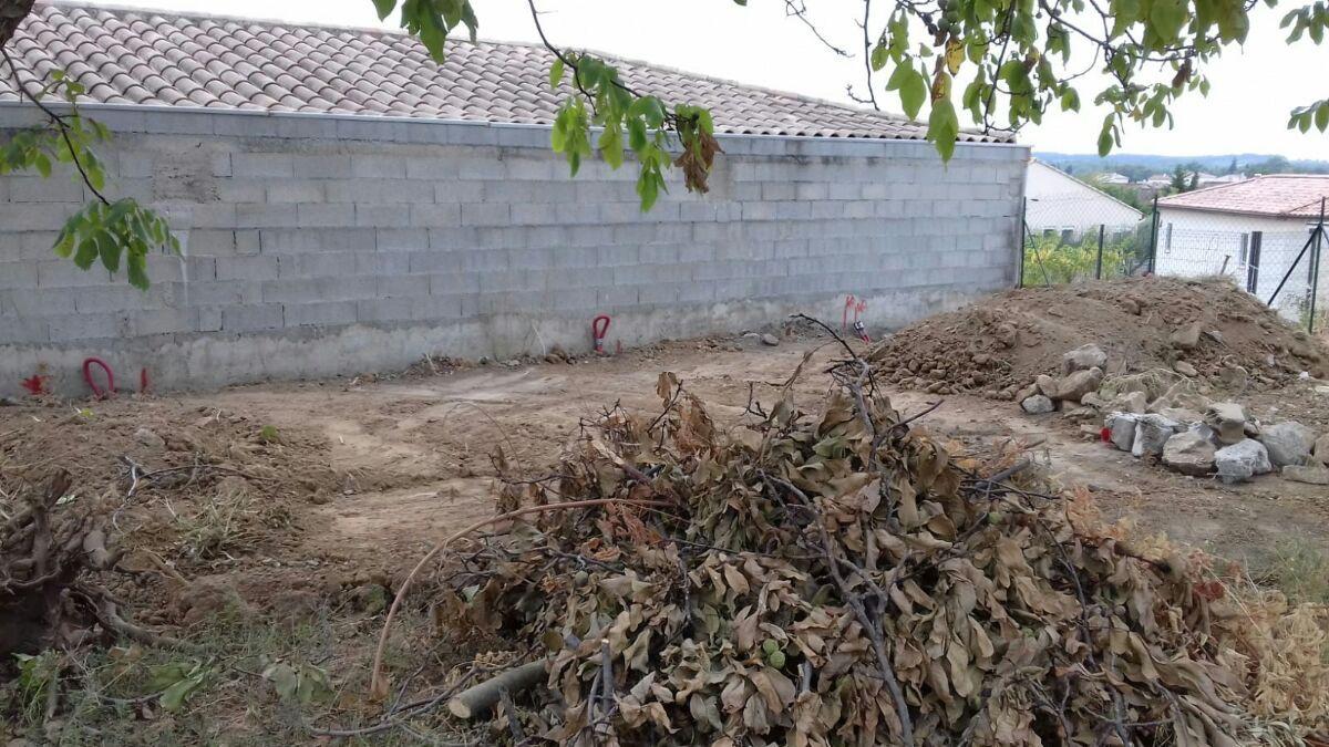 Réseaux humides terminés et terrain mis à plat