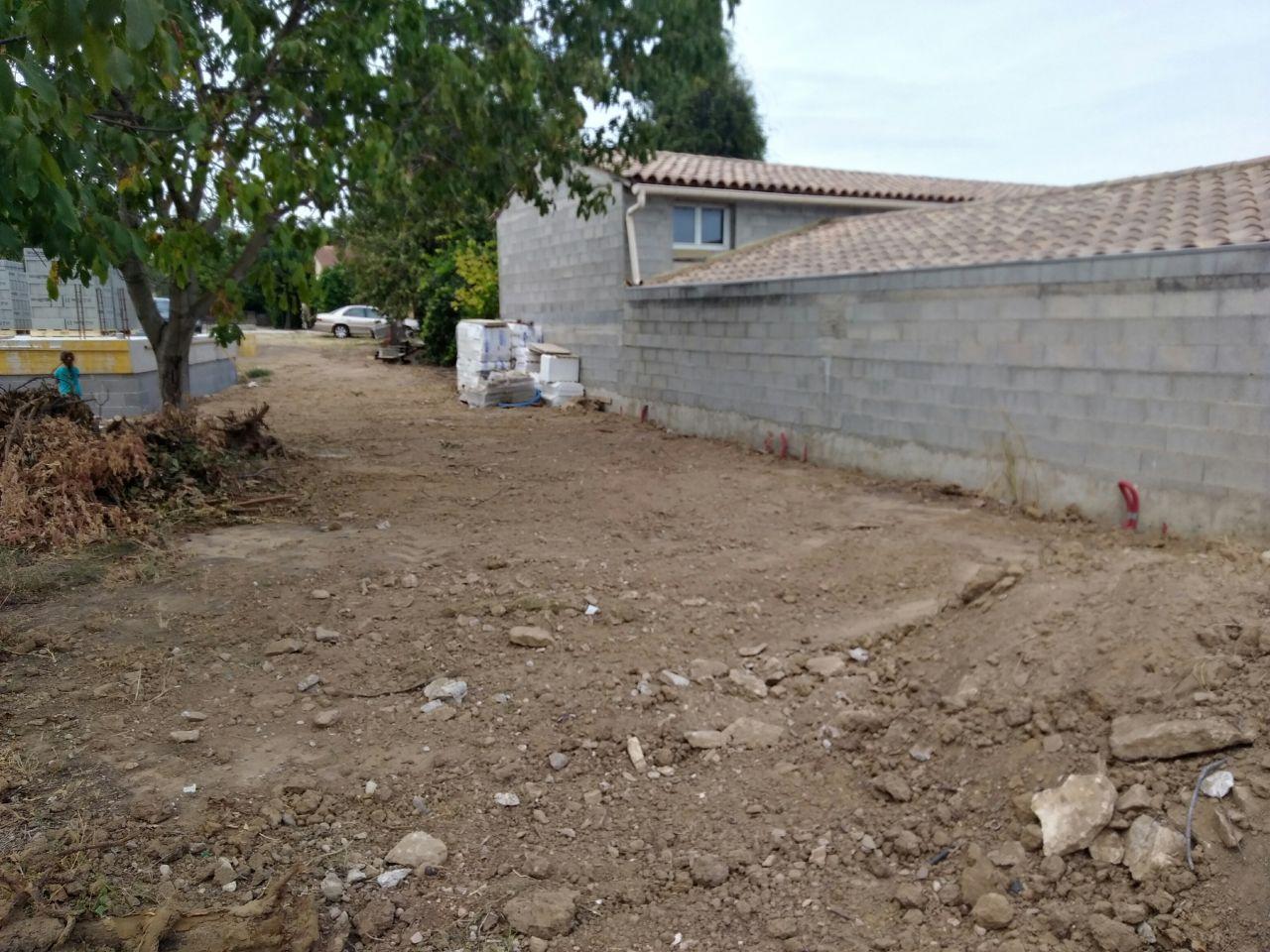 Réseaux humides enterrés et terrain mis à plat