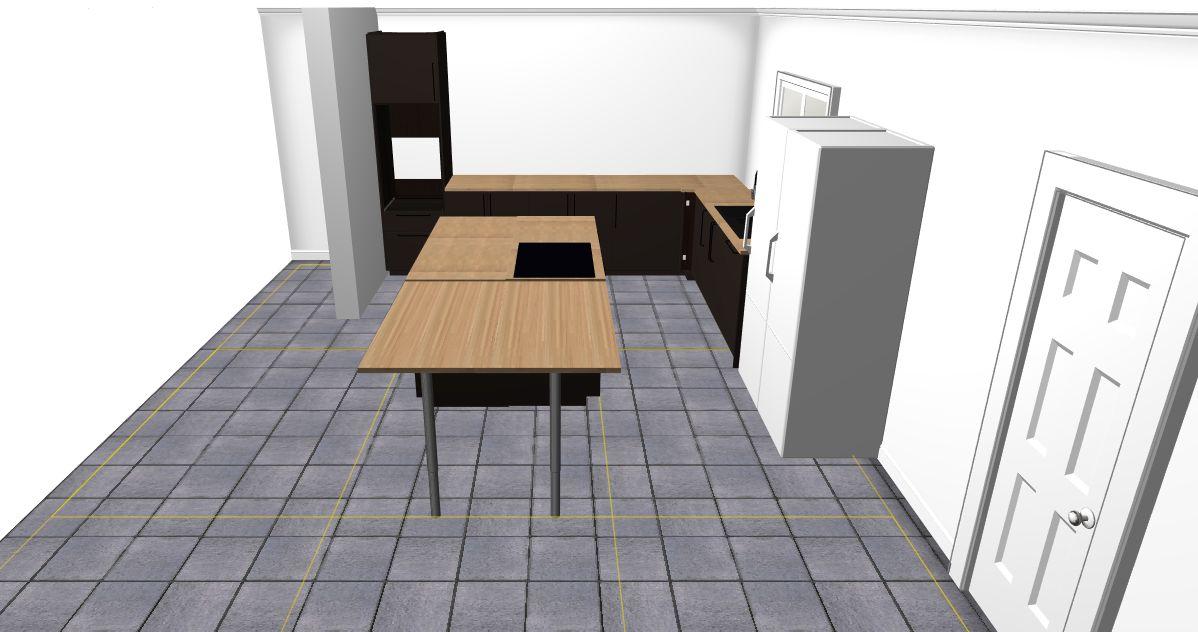 Rendu 3D cuisine 3