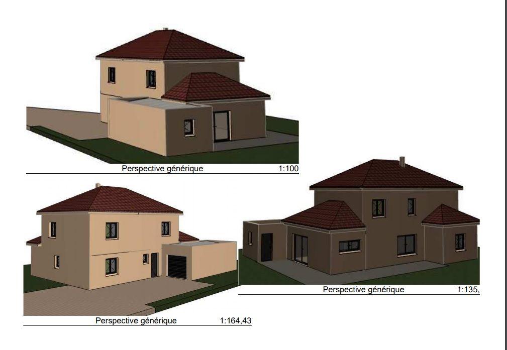 Vue perspective 3D maison