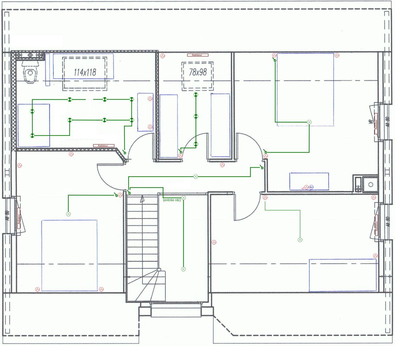 Essai plan électricité étage