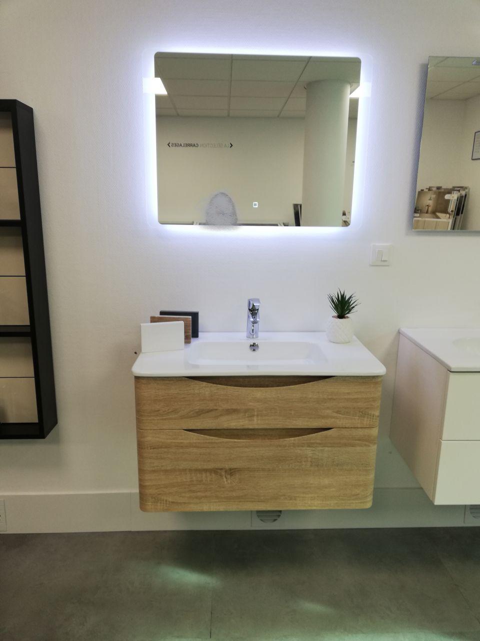 lavabo+miroir salle d'eau