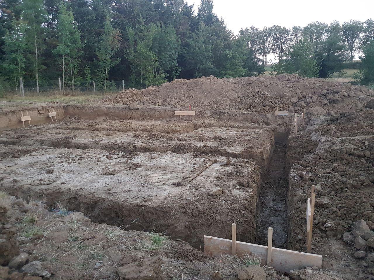 ouverture des fouilles
