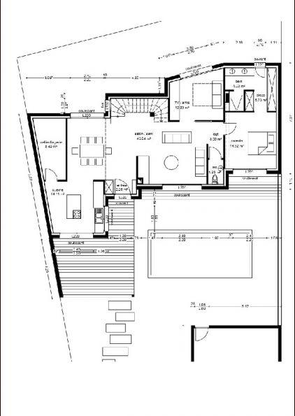 terrasse et piscine prévues par le contrat