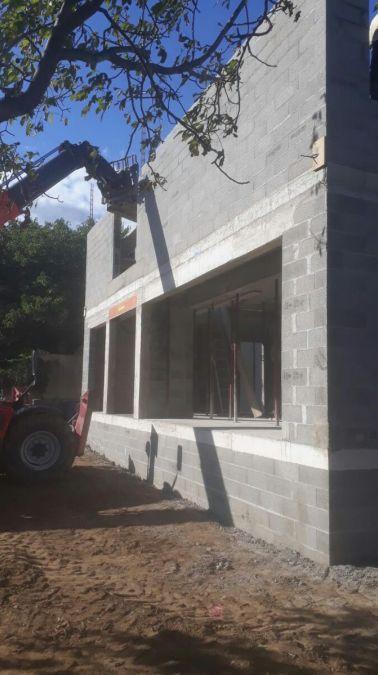 Montage murs étage vue avant
