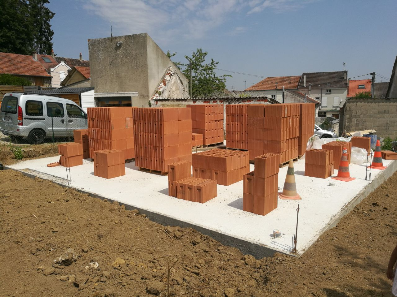 préparation élévation des murs - RDC