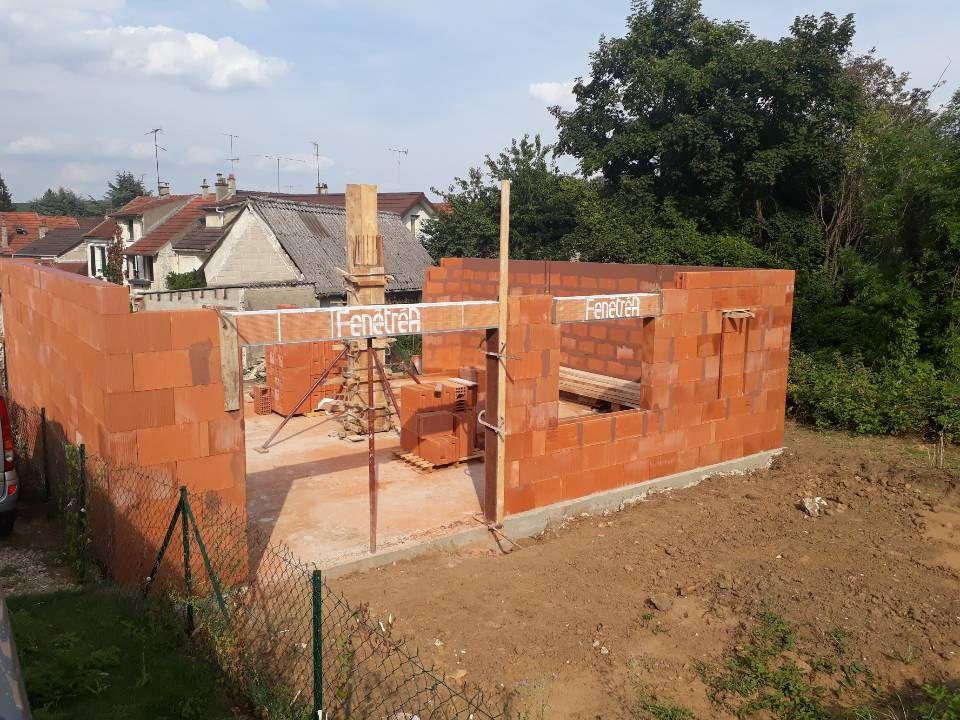 Elévation des murs - RDC