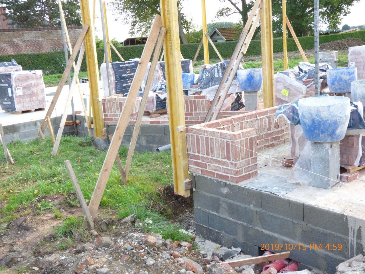 Maçonnerie briques CAYENNE joint blanc