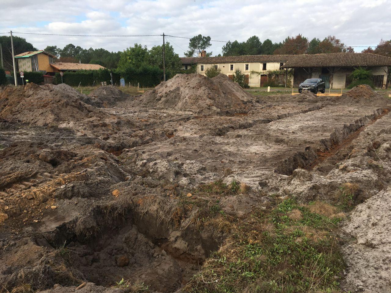 Ouverture des fouilles pour les fondations