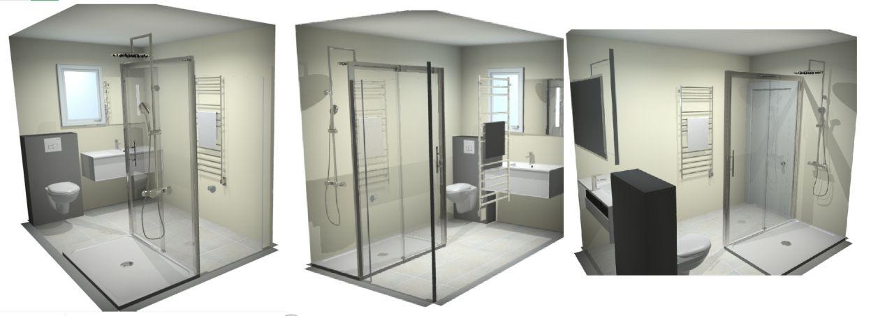 Schéma de la future salle de bain