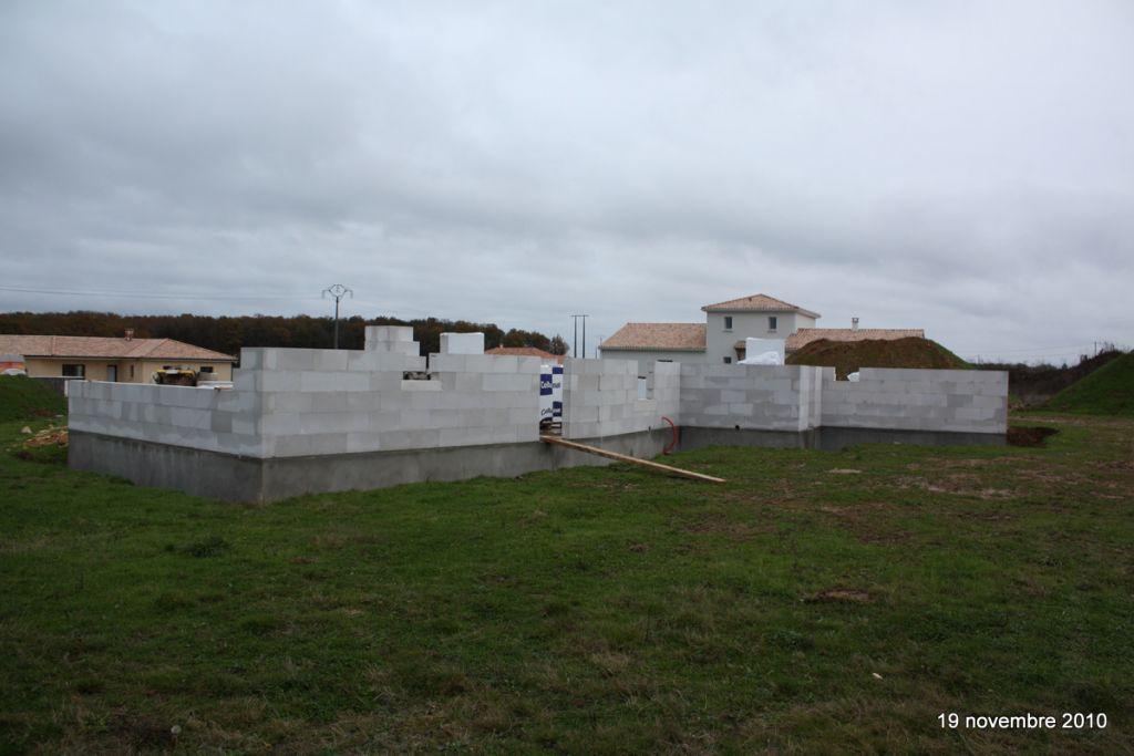 élévation murs RDC