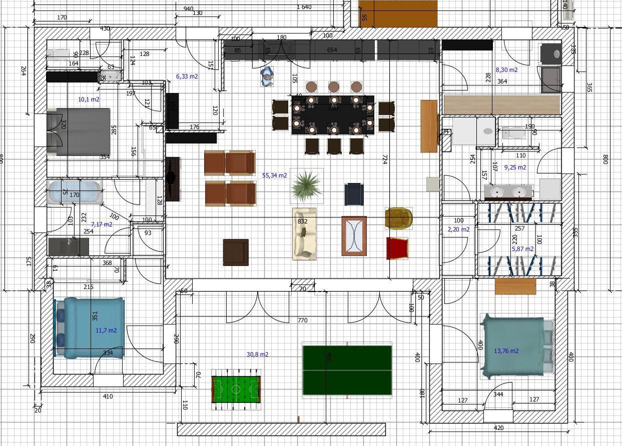plan avec sweet home 3d