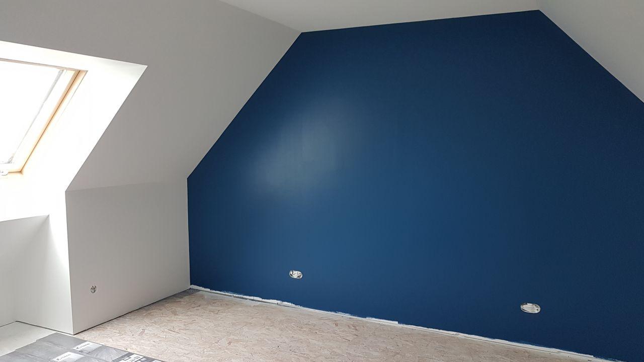 Peinture bleu  chambre 5
