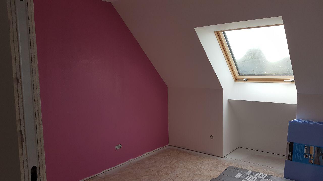 Peinture rose  chambre 3