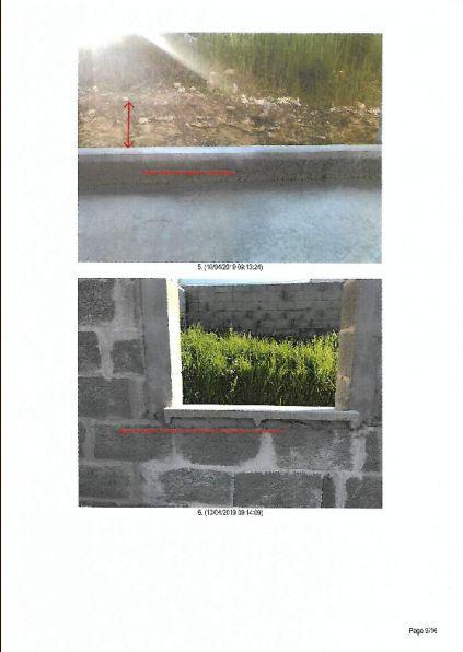 Photos d'huissier : la première côté Est de la maison, la dernière porte fenêtre. <br /> La seconde est la seule fenêtre au nord de la maison.