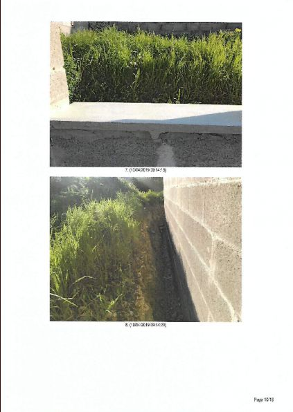Photos d'huissier : vue de la seule fenêtre au nord de la maison : pas de pb pour planter les radis dans le jardin !