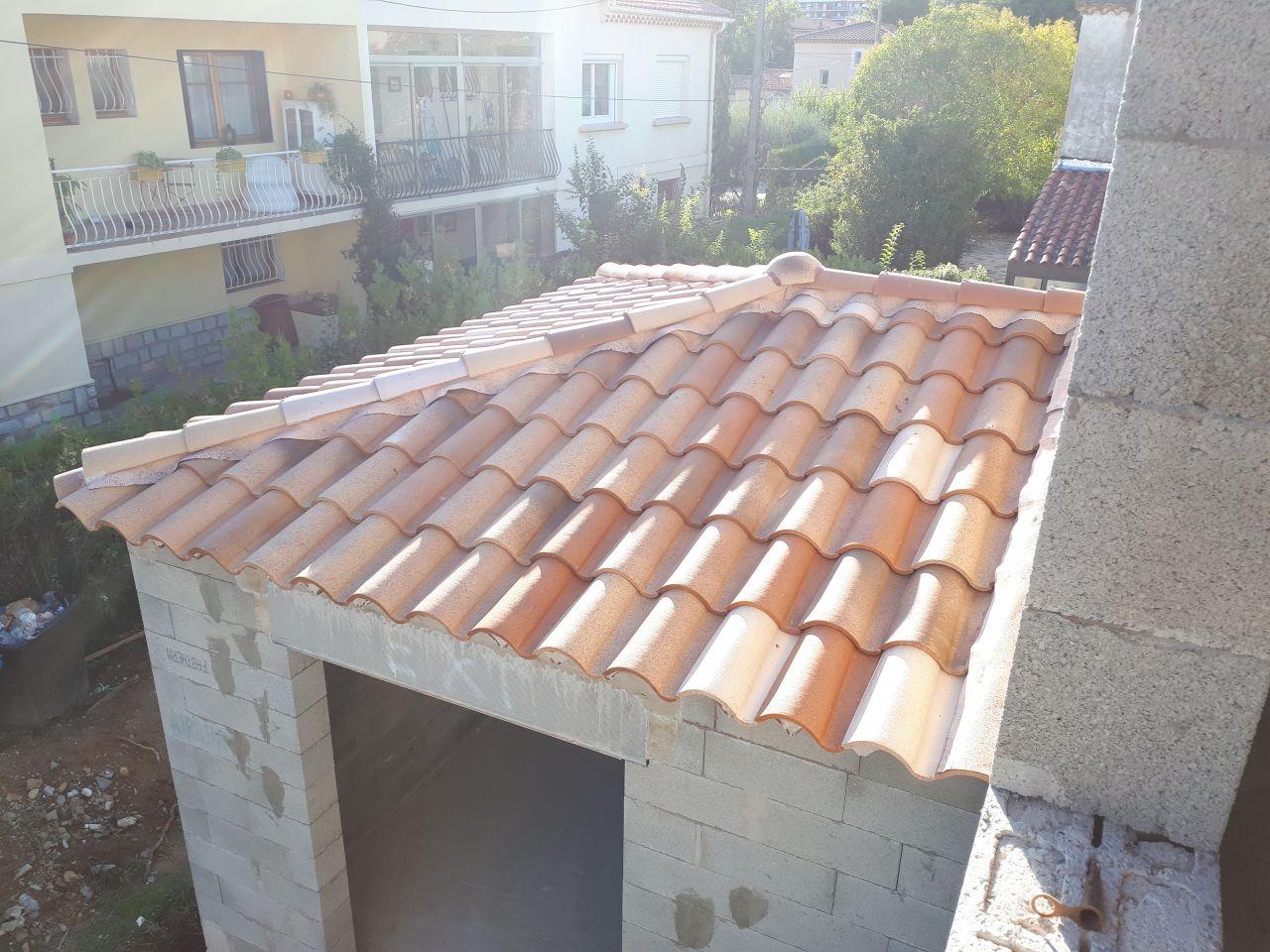 Vu de la toiture au dessus de la chambre RDC