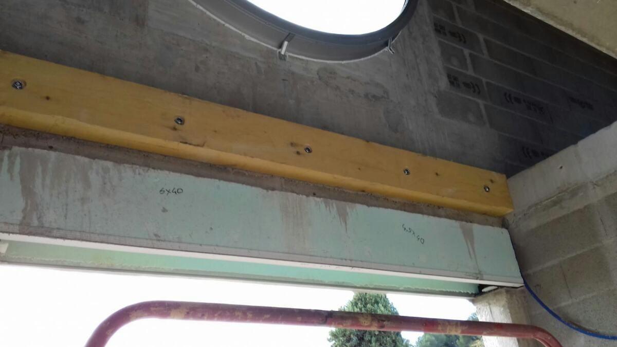 Pose muralière pour futur filet habitation