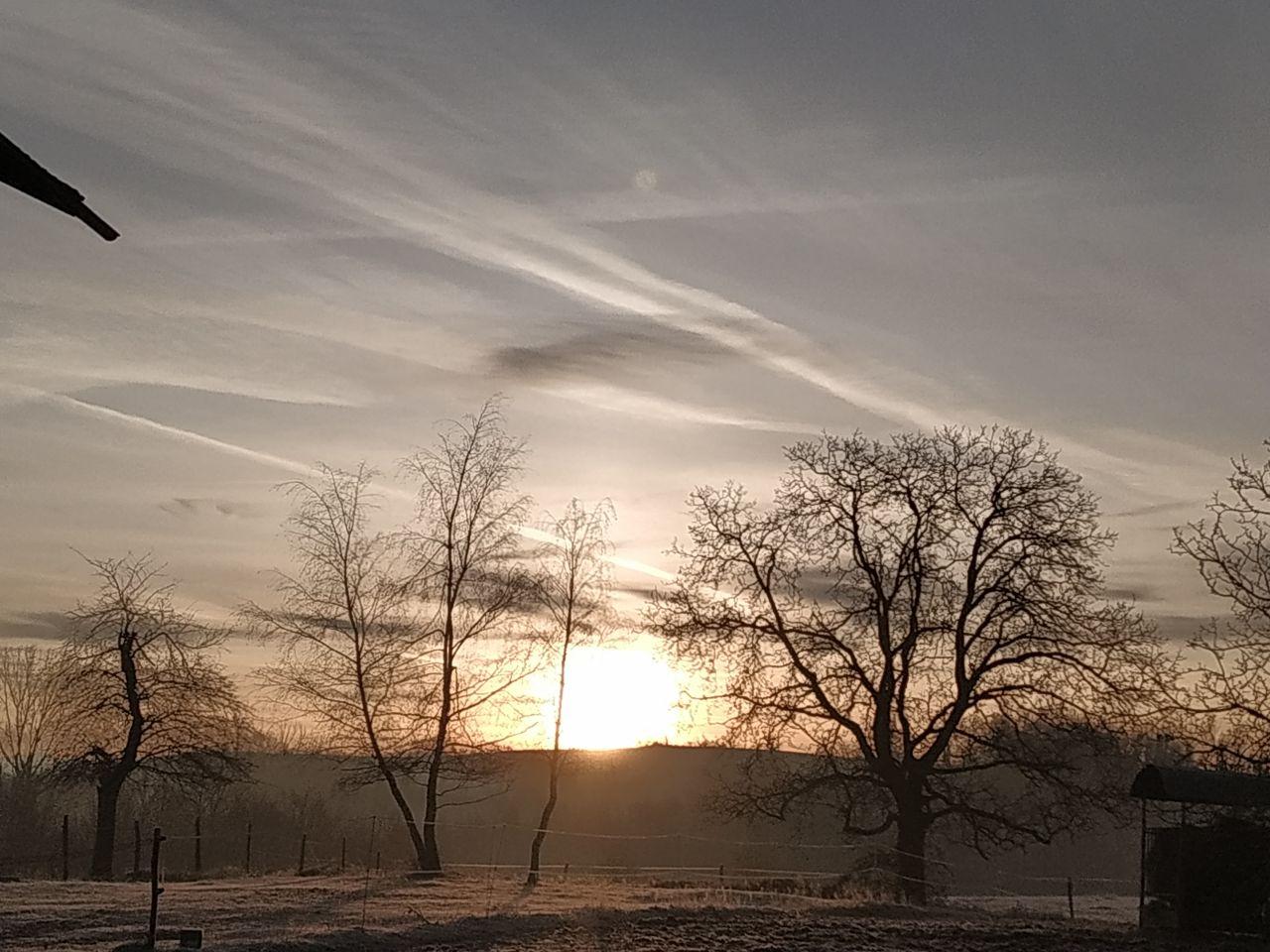 Lever de soleil en hiver