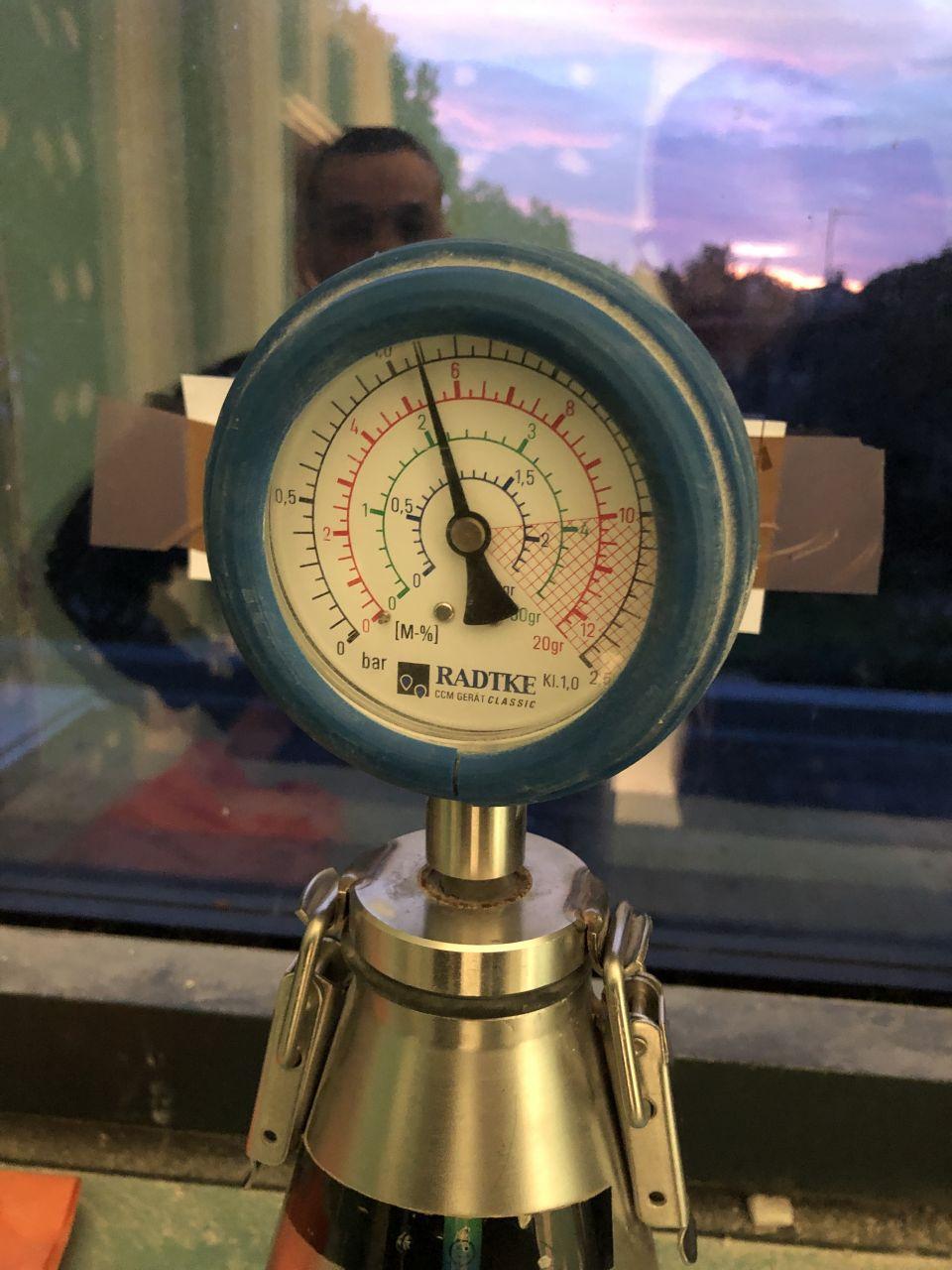 test à la bombe carbure de l'humidité de la chape anhydrite