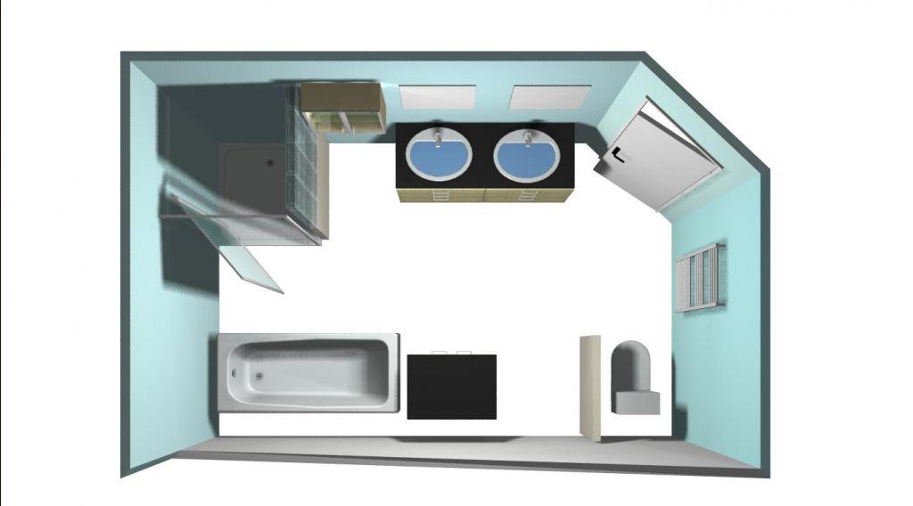 aménagement éventuel de la sdb avec baignoire en sous pente
