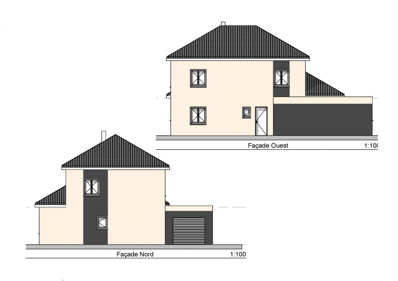 Finition façade nord et ouest