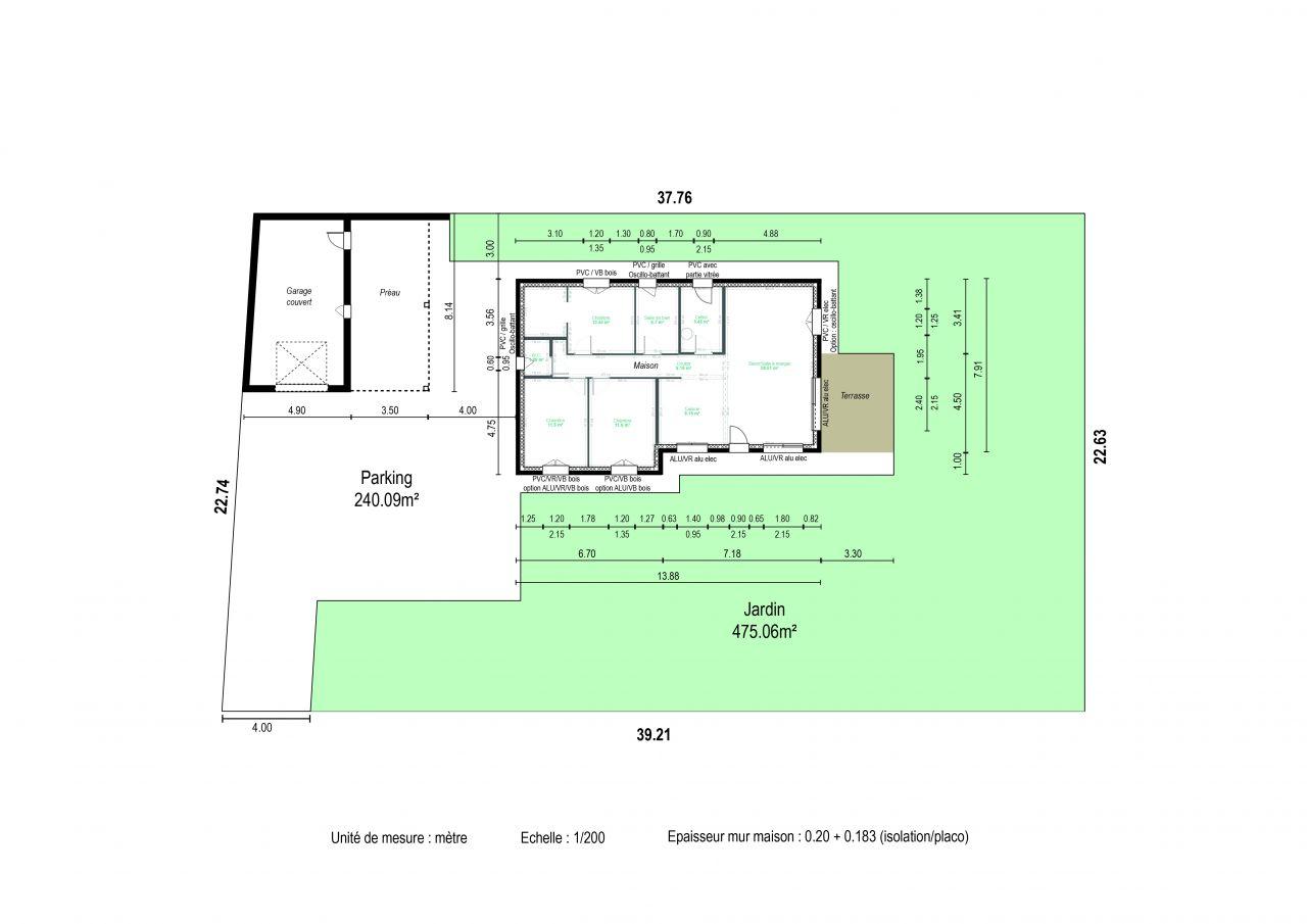 Plans de notre maison.