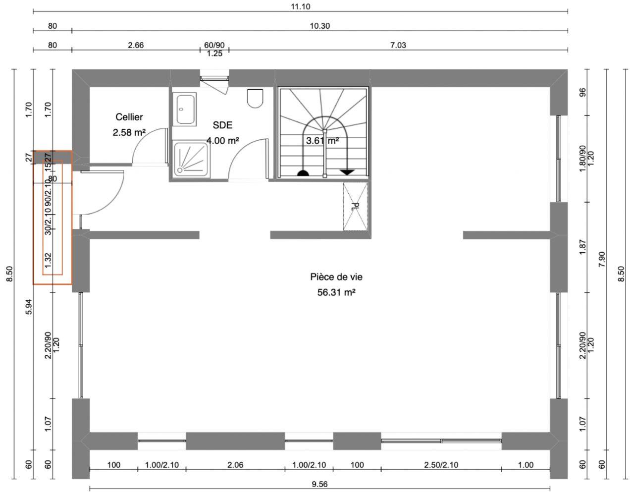 Plan RDC - Proposition du constructeur
