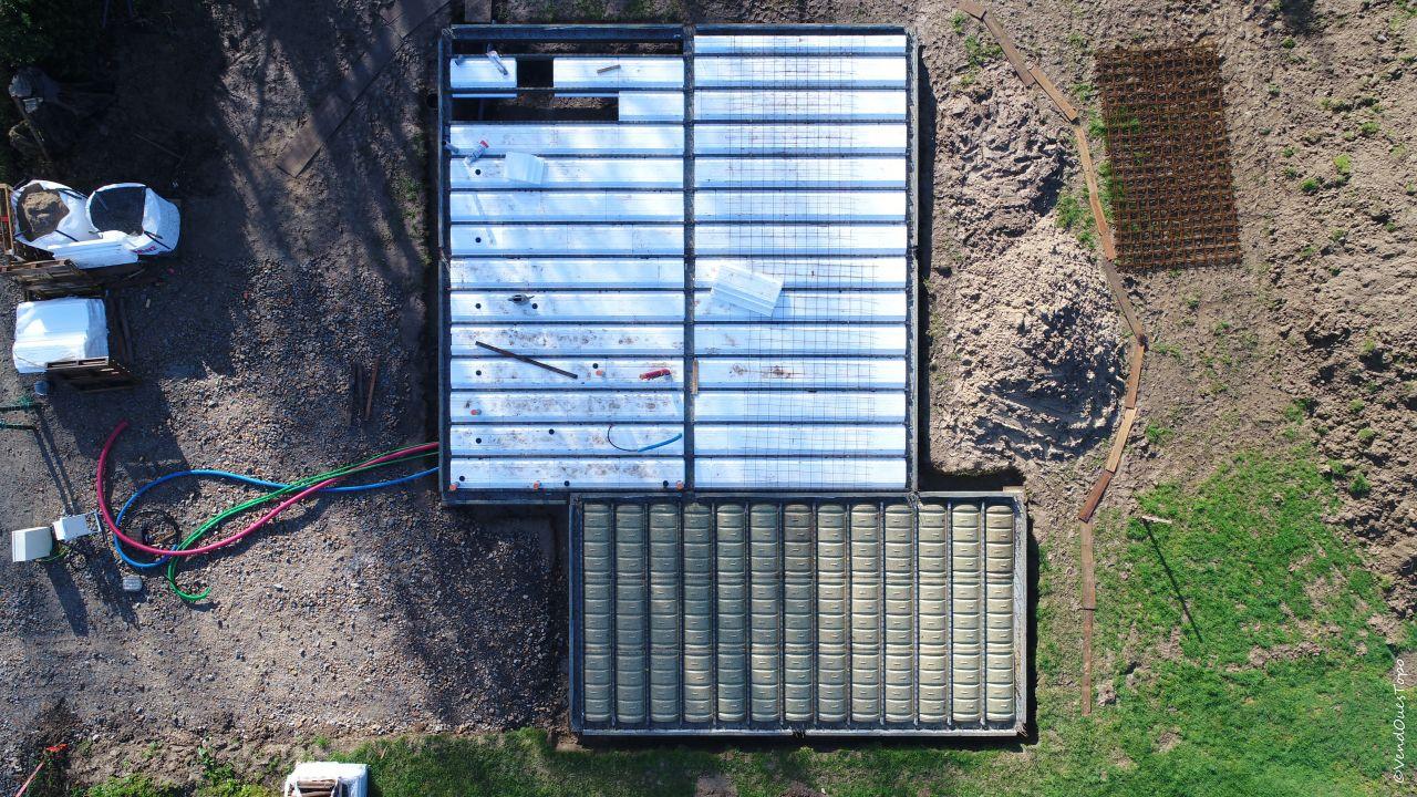 Plancher poutrelle-hourdis, photo aérienne par Morgan Soulard, VendOuesTopo, prestation de service drone et topographie