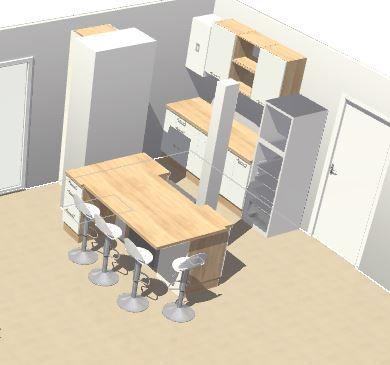 Plan V1 de la future cuisine rénovée